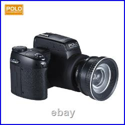 1080P 33MP Digital Video Camera With 24X Optical Zoom Telephoto /Wide Angle Lens