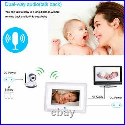 2.4Ghz 7 inch Digital Baby Monitor Wireless Video with Night Vision 4 Camera