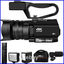 2020s 4K Video Camcorder Live Streaming for YouTube 56MP WIFI 30X Digital Zoom
