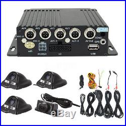 27Pcs 4CH Car Digital DVR Camera Security Video Recorder SD 4 CCD Rear View Kit