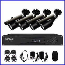 4CH Digital Video Recorder CCTV Outdoor 1080P HD Home Security Camera System Kit