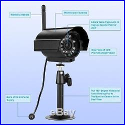 4CH Outdoor Digital Wireless FOUR CCTV Camera Home Security Video Record System