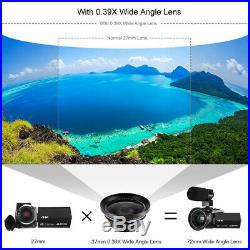 4K WiFi 16XZOOM HD 1080P 48MP Digital Video Camera Camcorder DVR 3 Touch Screen