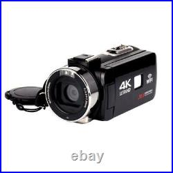4k Wifi Camera 16x Zoom Digital Video Camcorder Wide Angle Lens Professional Han