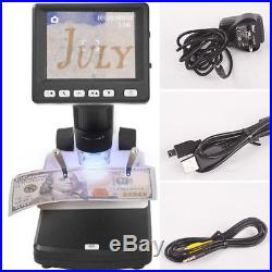 500X Magnifier Zoom USB Microscope 8 LED 3.5 LCD Digital Camera Video Recorder