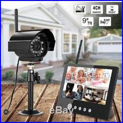 9 4CH Outdoor Digital Wireless 1 CCTV Camera Home Security Video Record System