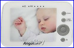 Angelcare AC1300 Digital VIDEO MOVEMENT and SOUND Baby Monitor ZOOM Camera NEW