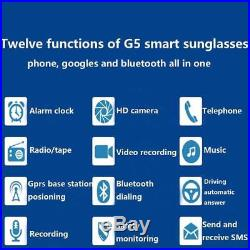 Bluetooth Smart Glasses Wearable Dial Call Digital Camera Smart Video Record