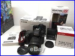 Canon EOS 80D 24.2MP Digital SLR Camera Video Creator Kit With 18-135mm
