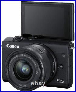 Canon EOS M200 Mirrorless Digital Camera with 15-45mm Lens 4K Video Wi-Fi Black