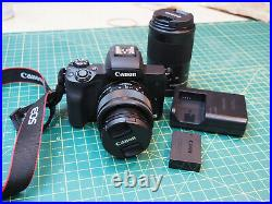 Canon EOS M50 24.1 MP 4K video Mirrorless Digital Camera with 2 lens