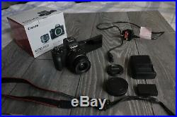 Canon Eos m50 4k mirrorless video camera digital with 15 45 kit lens cannon