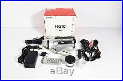 Canon HG10 HD 40 GB HDD Hybrid Camcorder+Digital High Definition Wide Angle Lens