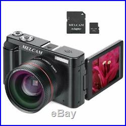 Digital Camera Video Camcorder, Full HD 1080P 24.0MP YouTube Vlogging Camera wit