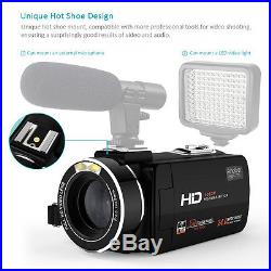 Digital Hd Video Camera Camcorder Zoom Dv Lcd 1080p Professional Touchscreen New