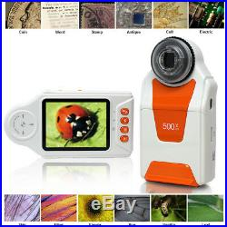 Digital Mobile Magnifier MicroScope 500x ZOOM Camera & Video Mode Learning Toy