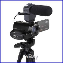 FHD1080P 24MP 16X Digital Zoom Video Camcorder Camera DV With Microphone+Tripod