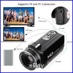 FULL HD 1080P 24MP 16X ZOOM LED 3 LCD Digital Video Camera Camcorder Microphone