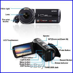 Full HD 1080P 24MP 16X Digital Zoom Video Camcorder Camera DV With Microphone