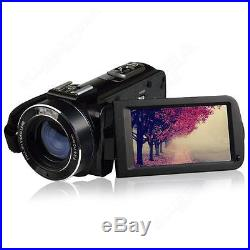 Full HD 1080P 24MP 16X Digital Zoom Video Camera DV with Microphone+Tripod Stand