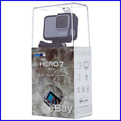 GoPro HERO7 White Waterproof Digital Action Camera, Touch Screen, 4K HD Video