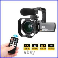 HDR-AE8 4K 3.0in IPS HD Touch Screen 16X WIFI Digital Video Camera Night Vision