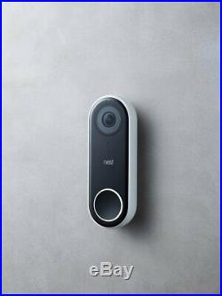 Nest Hello Video Doorbell Smart Wi-Fi HD Security Camera with Night Vision