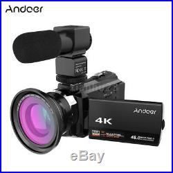New 4K 1080P 48MP WiFi Digital Video Camera Camcorder 3inch Touchscreen 16X Zoom