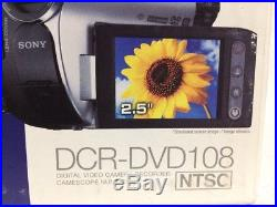 New Sony Handycam Dcr-dvd 108 Digital Video Camera Record Camcorder Touch Panel