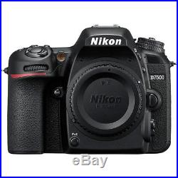 Nikon D7500 Body only 20.9 MP Black Digital SLR Camera D-7500 4K Video NEW