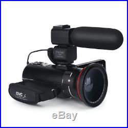 ORDRO HDV-Z20 Wifi Video Camcorder 1080P HD Digital Camera+Wide Lens +Microphone
