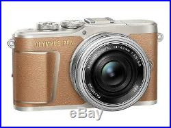 Olympus Pen E-PL9 16MP Digital Mirrorless Camera with 14-42mm Lens Brown