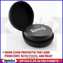 Opteka. 3x Fisheye Lens for Canon and Sony 58mm Threaded Video Camera Camcorders