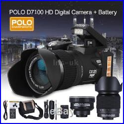 POLO D7100 HD 33MP 3 LCD 24X ZOOM LED Digital DSLR Camera Photo Video Camcorder