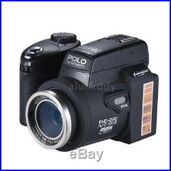 POLO HD 33MP 3 LCD 24X ZOOM Digital DSLR Camera Photo Video Camcorder LED Light