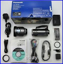 Panasonic Hdc-sdt750 Camcorder Boxed Sdxc Hd Digital Video Cam & Vw-clt1 3d Lens