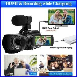 RX100 WIFI 4K Video Camcorder Touch Screen 30X Photography Recorder For Youbute