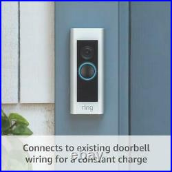 Ring Video Doorbell Pro 1080P Wi-Fi Hard Wired Smart HD Camera Works With Alexa