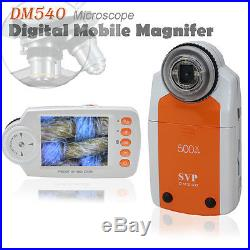 SVP DM540 Digital Mobile Magnifier MicroScope 500x ZOOM with Camera & Video Mode