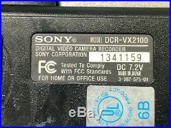 Sony DCR-VX2100 Camcorder digital video camera with 3 batteries