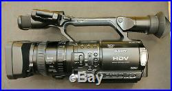 Sony Digital HD Video Camera Recorder HVR-Z1E Good Used Condition