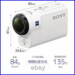 Sony Digital Hd Video Camera Recorder Action Cam Domest Hdr-As300 White Body wit