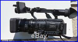 Sony Hrv-zie Pro Digital Hd Video Camera With Battery Camera Bag Well Padded