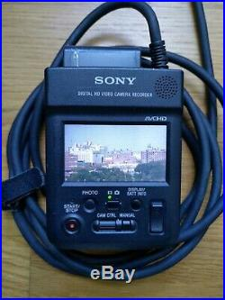 Sony Hxr-mc1 Digital Hd Video Camera Package Remote & Extras Used
