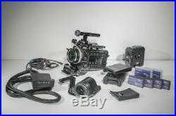 Sony PMW-F55 CineAlta 4K Digital Cinema Camera with RAW block and other accessor