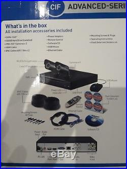 Swann Advanced CCTV system with 2 cameras & 4 channel Digital Video recorder