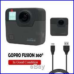 Used GoPro Fusion 360 Degree Digital VR 5.2K HD Action Video Camera sticky mount