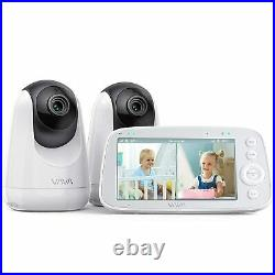 VAVA Baby Monitor Split View 5 720P Video Baby Monitor with 2 Cameras