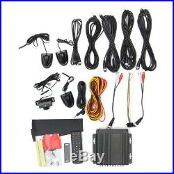 Vehicle Car 4CH Digital DVR Camera Security Video Recorder Rear View Parts Kit